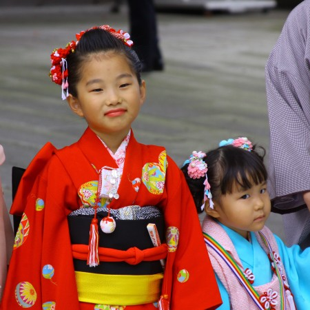 Little sisters at Yoyogi Park